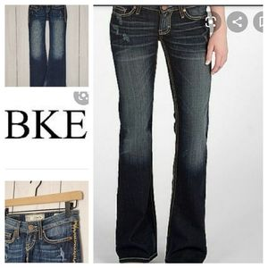 BKE Starlite Flare low rise jeans Buckle